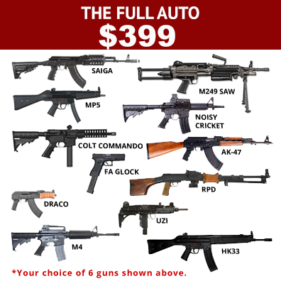 The full auto $399 package with 12 guns to choose 6 guns